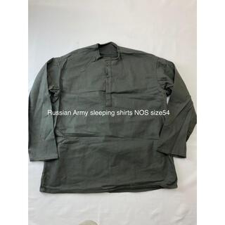 マルタンマルジェラ(Maison Martin Margiela)のロシア軍スリーピングシャツsize54未使用★M47M651Ldkミリタリー(シャツ)