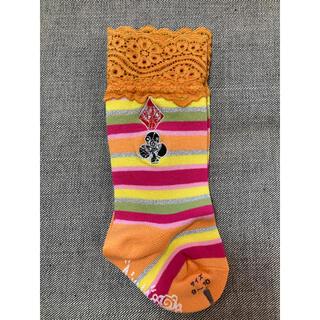 ヒステリックミニ(HYSTERIC MINI)のヒスミニ 刺繍 レース 靴下 9-10(靴下/タイツ)