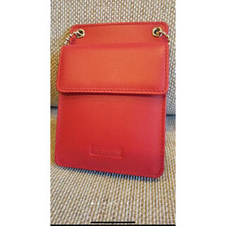 シュプリーム(Supreme)のSupreme Leather ID Holder + Wallet Red(パスケース/IDカードホルダー)