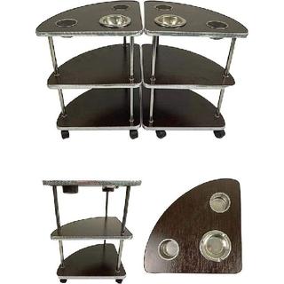 麻雀 サイドテーブル 3段 2台セット 高さ50cm 灰皿付き オフィス 家庭用(麻雀)