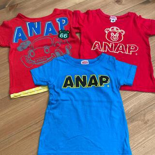 アナップキッズ(ANAP Kids)の100cm ANAPkids  3枚セット 半袖 Tシャツ(Tシャツ/カットソー)