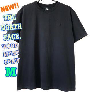 ザノースフェイス(THE NORTH FACE)の厚生地 刺繍ロゴ ♪ ノースフェイス ヘビーウェイト Tシャツ 黒 M(Tシャツ/カットソー(半袖/袖なし))