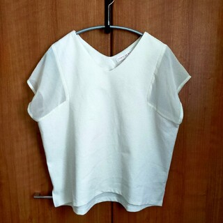 センスオブプレイスバイアーバンリサーチ(SENSE OF PLACE by URBAN RESEARCH)のシアーTシャツ ホワイト フリーサイズ(Tシャツ(半袖/袖なし))