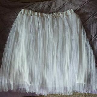 アズノゥアズピンキー(AS KNOW AS PINKY)のホワイト*チュールスカート(ひざ丈スカート)