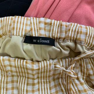 ダブルクローゼット(w closet)のwcloset チェックパンツ(その他)