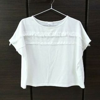 テチチ(Techichi)のフリンジ半袖カットソー (白) Techichi(Tシャツ(半袖/袖なし))