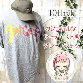 ダッフィー(ダッフィー)のTOILET トイレット半袖 TシャツヘザーグレーM(Tシャツ/カットソー(半袖/袖なし))