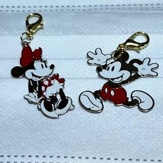 ディズニー(Disney)のマスクチャーム(ミッキー&ミニー①)(チャーム)