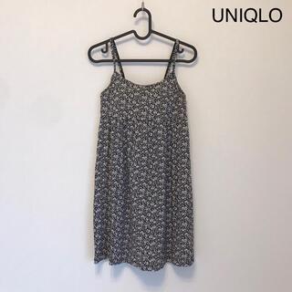 ユニクロ(UNIQLO)のUNIQLO ユニクロ ブラトップ キャミワンピース 花柄(その他)