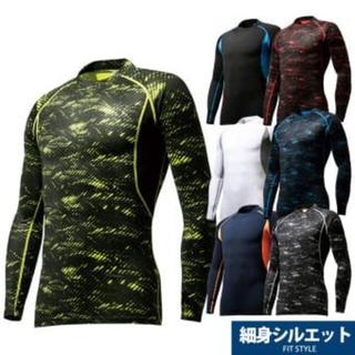 ウォークマン(WALKMAN)のワークマン ロンT ヒートテック Lサイズ グレー 黒(Tシャツ/カットソー(半袖/袖なし))