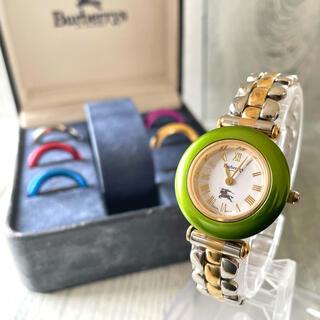 バーバリー(BURBERRY)の【動作OK】Burberrys バーバリー 腕時計 チェンジベゼル 9100L (腕時計)