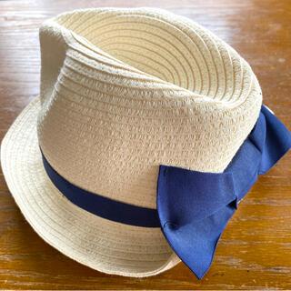ブランシェス(Branshes)のリボン麦わら帽子 50cm(麦わら帽子/ストローハット)
