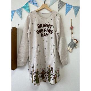 ラフ(rough)のrough ラフ ワンピース レディース 春 秋 冬 刺繍 ボタン(ロングワンピース/マキシワンピース)