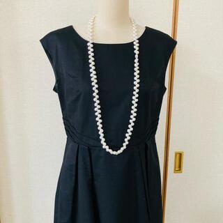 SILVER 淡水真珠 ロングネックレス 102cm(ネックレス)