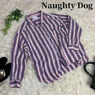シュプリーム(Supreme)のNaughty Dog ストライプシャツ(シャツ/ブラウス(長袖/七分))
