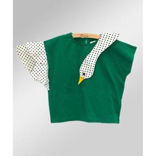 はこ様専用★新品★ドットスワンTシャツ パープル(Tシャツ/カットソー)