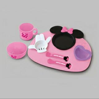 ディズニー(Disney)の【キッズ】【ベビー】錦化成 ミニーマウスアイコン ベビー食器セット ★錦化成(離乳食器セット)