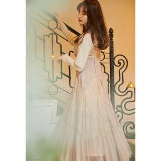 herlipto Lace Trimmed Satin Cami Dress (ロングワンピース/マキシワンピース)
