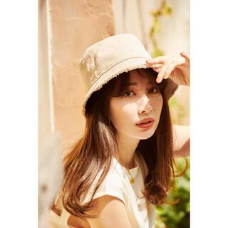 Fringe Cotton-Canvas Bucket Hat ivory(ハット)
