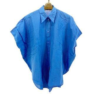 ステラマッカートニー(Stella McCartney)のステラマッカートニー サイズ36 M - ブルー(シャツ/ブラウス(半袖/袖なし))
