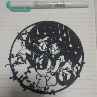 ディズニー(Disney)のドナルドダック&デイジー  切り絵(その他)