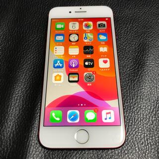 アイフォーン(iPhone)のiPhone7 128GB中古SIMフリー赤(スマートフォン本体)