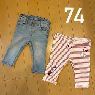 H&M - 【74cm】ベビーパンツ 2点セット
