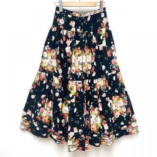 PINK HOUSE 花束 ギャザー スカート スカート(ロングスカート)