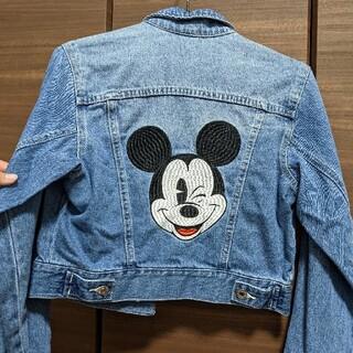 ディズニー(Disney)のミッキー 刺繍 Gジャン(ジャケット/上着)