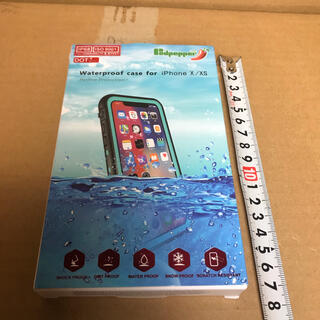 レッドペッパー(REDPEPPER)のレッドペッパー iPhone X XS ウォータープルーフケース ブラック(その他)