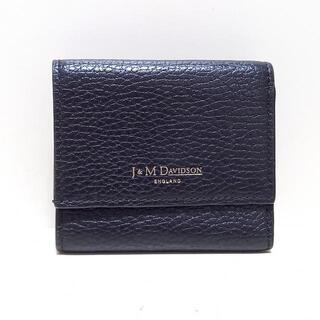 ジェイアンドエムデヴィッドソン(J&M DAVIDSON)のジェイ&エムデヴィッドソン - 黒 レザー(財布)