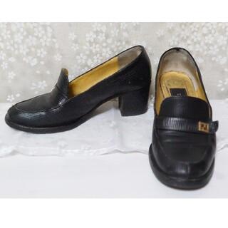 フェンディ(FENDI)のFENDI フェンディ パンプス チャンキーヒール 35 ハーフ(ローファー/革靴)