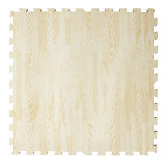 【新品】大判59㎝ 木目調ジョイントマット6畳用32枚組 ホワイト(その他)