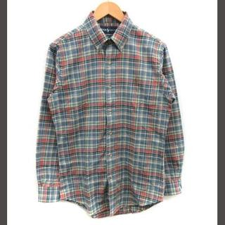 ラルフローレン(Ralph Lauren)のラルフローレン  CISTOM FIT カジュアルシャツ チェック M 水色(その他)