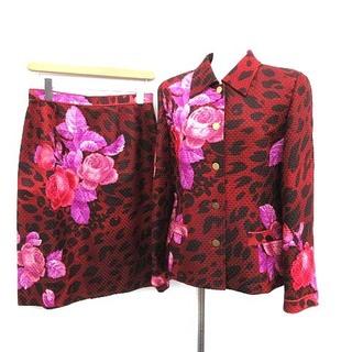 レオナール(LEONARD)のレオナール スーツ セットアップ 上下 ジャケット スカート 11 ボルドー(スーツ)