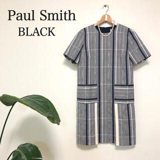 ポールスミス(Paul Smith)の美品✨Paul Smith  BLACK  ポールスミス チェック ワンピース(ひざ丈ワンピース)