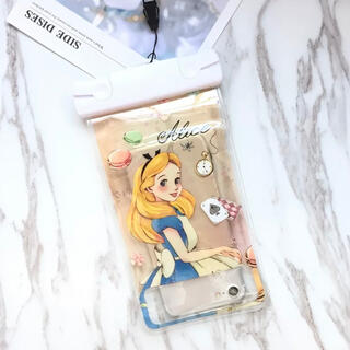 フシギノクニノアリス(ふしぎの国のアリス)の新品Disneyスマホ完全防水ケース不思議の国のアリスディズニーキャラクター(iPhoneケース)