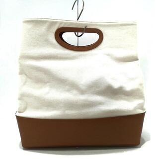 ペリーコ(PELLICO)のPELLICO(ペリーコ)美品  白×ブラウン(トートバッグ)