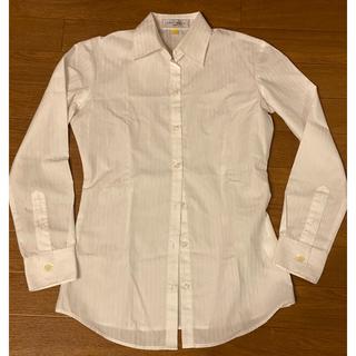 アオキ(AOKI)のAOKI縦ライン白ブラウスシャツ2枚セット(シャツ/ブラウス(長袖/七分))