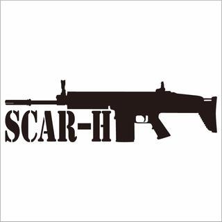 ミリタリーステッカー SCAR-Hシルエット(その他)