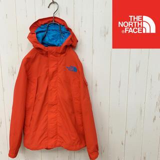 ザノースフェイス(THE NORTH FACE)のノースフェイス  肩ロゴ マウンテンパーカー  オレンジ キッズ130(ジャケット/上着)