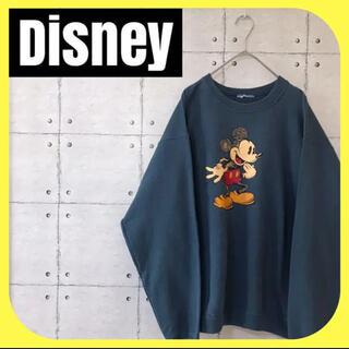 Disneyディズニー•Mickeyミッキー•プリント•スウェット•トレーナー•
