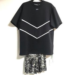 オフホワイト(OFF-WHITE)のOFF-WHITE ワンピース Graphite Intarsia Dress (ひざ丈ワンピース)