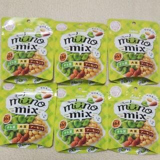 カルビー(カルビー)のカルビー ミーノ ミックス 6袋① ロカボ miino そら豆・大豆・アーモンド(菓子/デザート)