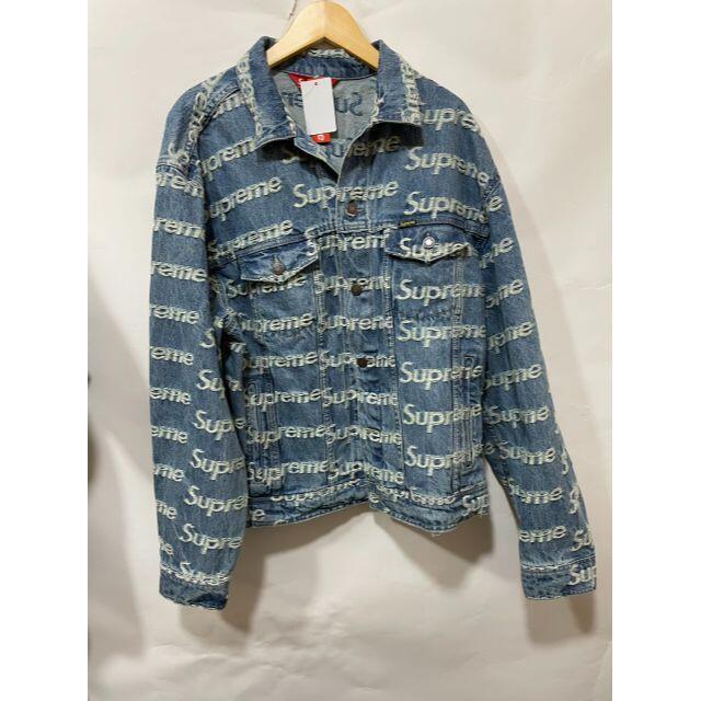 Supreme(シュプリーム)のSupreme Frayed Logos Trucker Jacket L メンズのジャケット/アウター(Gジャン/デニムジャケット)の商品写真