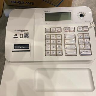 カシオ(CASIO)のカシオ 電子レジスター casio Bluetooth搭載 SR-G3-WE(店舗用品)