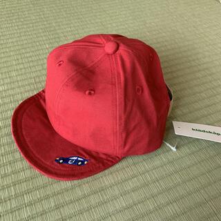 クレードスコープ(kladskap)の新品 kladskap 電刺繍ツイルキャップ レッド L(帽子)
