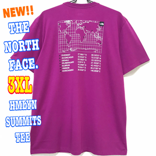 ザノースフェイス(THE NORTH FACE)のサラサラ 高品質 ♪ ノースフェイス ヒマラヤン サミット Tシャツ 紫 3XL(Tシャツ/カットソー(半袖/袖なし))