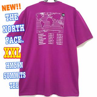 ザノースフェイス(THE NORTH FACE)のサラサラ 高品質 ♪ ノースフェイス ヒマラヤン サミット Tシャツ 紫 XXL(Tシャツ/カットソー(半袖/袖なし))