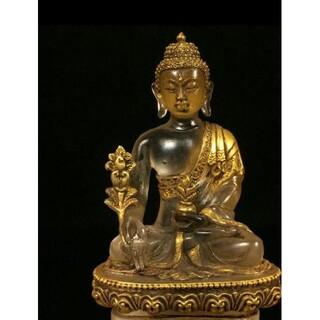 骨董品、チベットで出土、瑠璃の古仏、コレクション(彫刻/オブジェ)